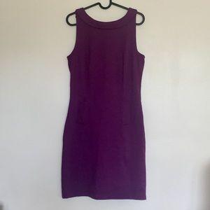 boden • plum sheath button dress